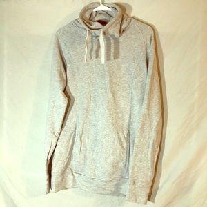 turtleneck sweatshirt.